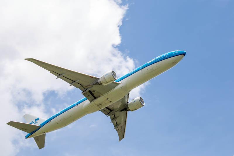 ひこうきの丘 南風運用 離陸機(2018年7月10日撮影)