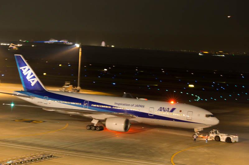 アンチ・コリジョン・ライトの例 羽田空港 ANA機