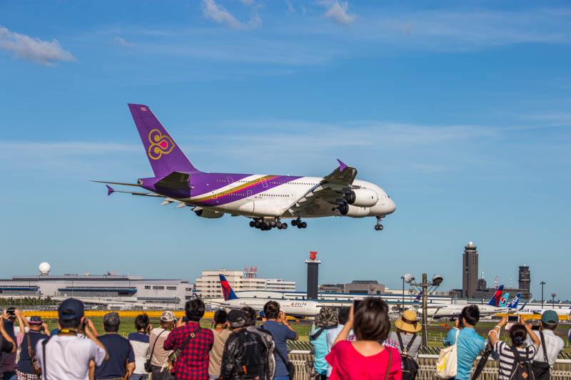 みんな大好き エアバス A380 タイ国際航空(2018/06/30 16:39/南風)